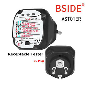 Neu-BSIDE-AST01-Steckdose-Tester-profi-automatische-Pruefstecker-EU-Stecker-220V