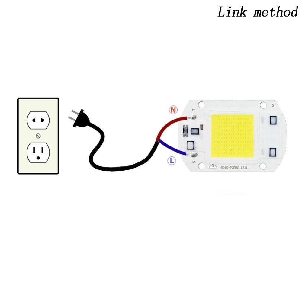 High Power COB LED Chip 20W 30W 50W Warmweiß LED DIY Flutlicht Scheinwerfer 220V 4