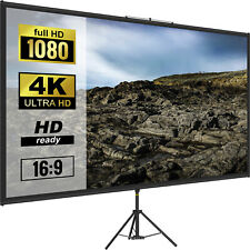 Vevor Tripod Projector Screen With Stand 90 Inch 4k Hd 169 Home Cinema Portable