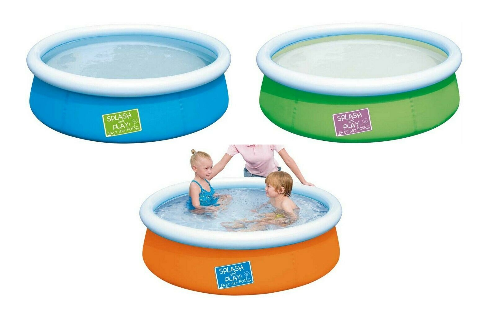 Bestway Splash and Play My First Fast Set Above Ground Pool 5ft for Baby / Child