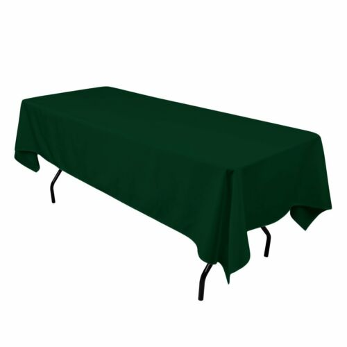"""Dinner Tablecloth 58/"""" x 102/"""" Hunter Green lovemyfabric Polyester Holiday Party"""