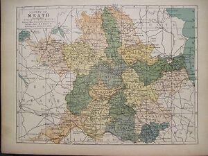 Irish Map County Meath Ireland Drogheda Boyne Oldcastle Pw Joyce