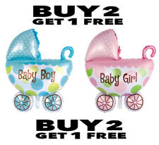 BABY SHAPED FOIL BALLOON GIRL //BOY BIRTH 48x75CM FOR BABY SHOWER CHRISTENING NEW