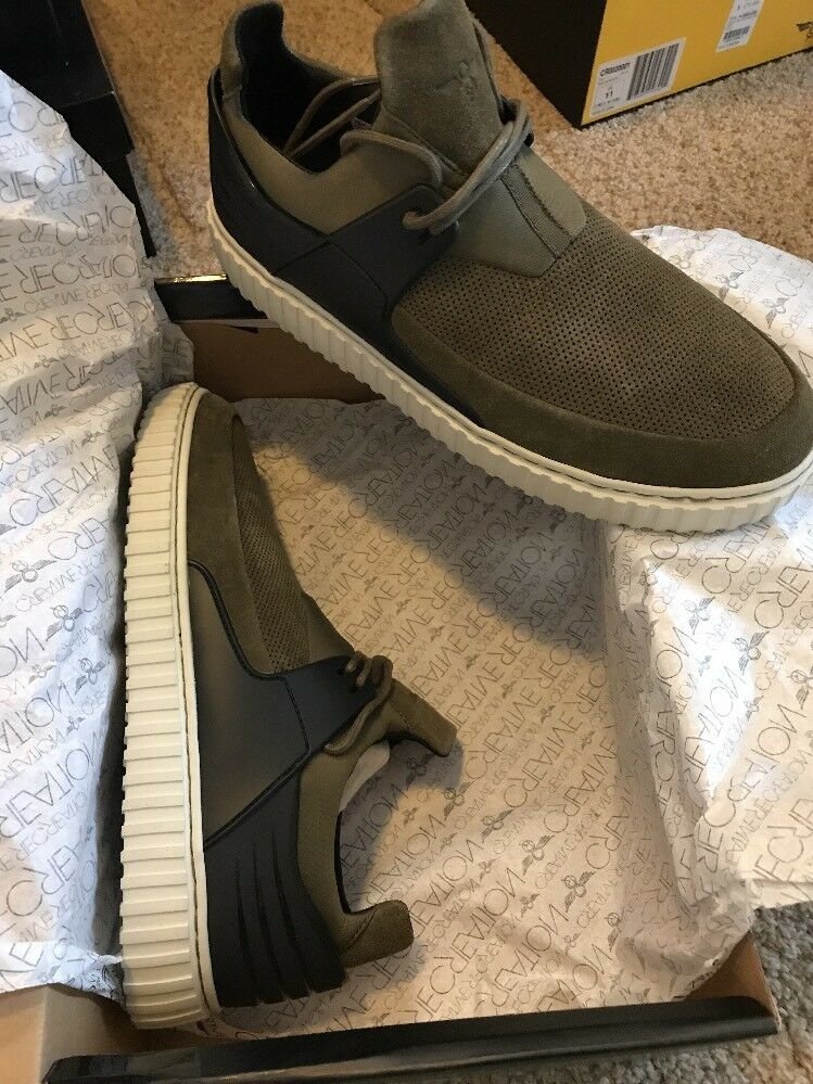 Creative Recreation Men's Castucci Military Bone Army Green Fashion Sneakers 12