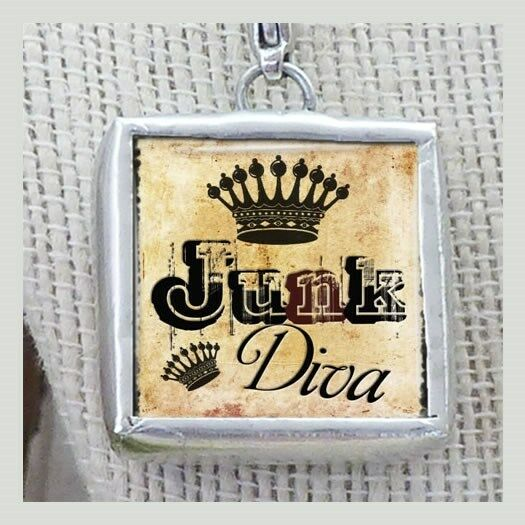 Queen of Junk Diva Crown Necklace Charm by IMCC & Dangle by jewel kade Plunder