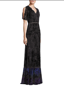 Catherine Malandrino Black Noir Pleated Ponte Dress Size 14 NEW With Tags