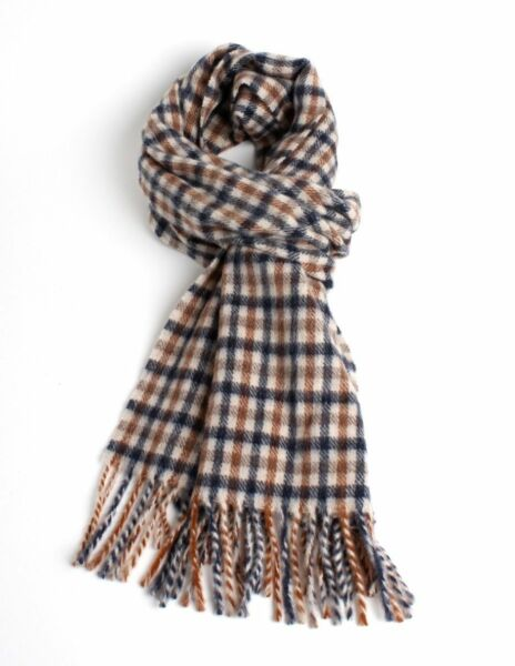 Aquascutum Classic Wool Club Multi-coloured Check Scarf | Acquisti Online Su