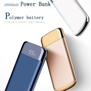 For Xiaomi Mi Iphone Xs Note 8 30000mah Power Bank External Battery Poverbank 2 Usb Led Powerbank Portable Mobile Phone Charger Automobiles