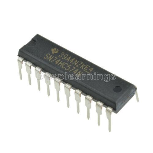 5 pcs 74HC574N 74HC574 DIP-20 D-Type Flip-Flop Integrated Circuit IC DIP 20