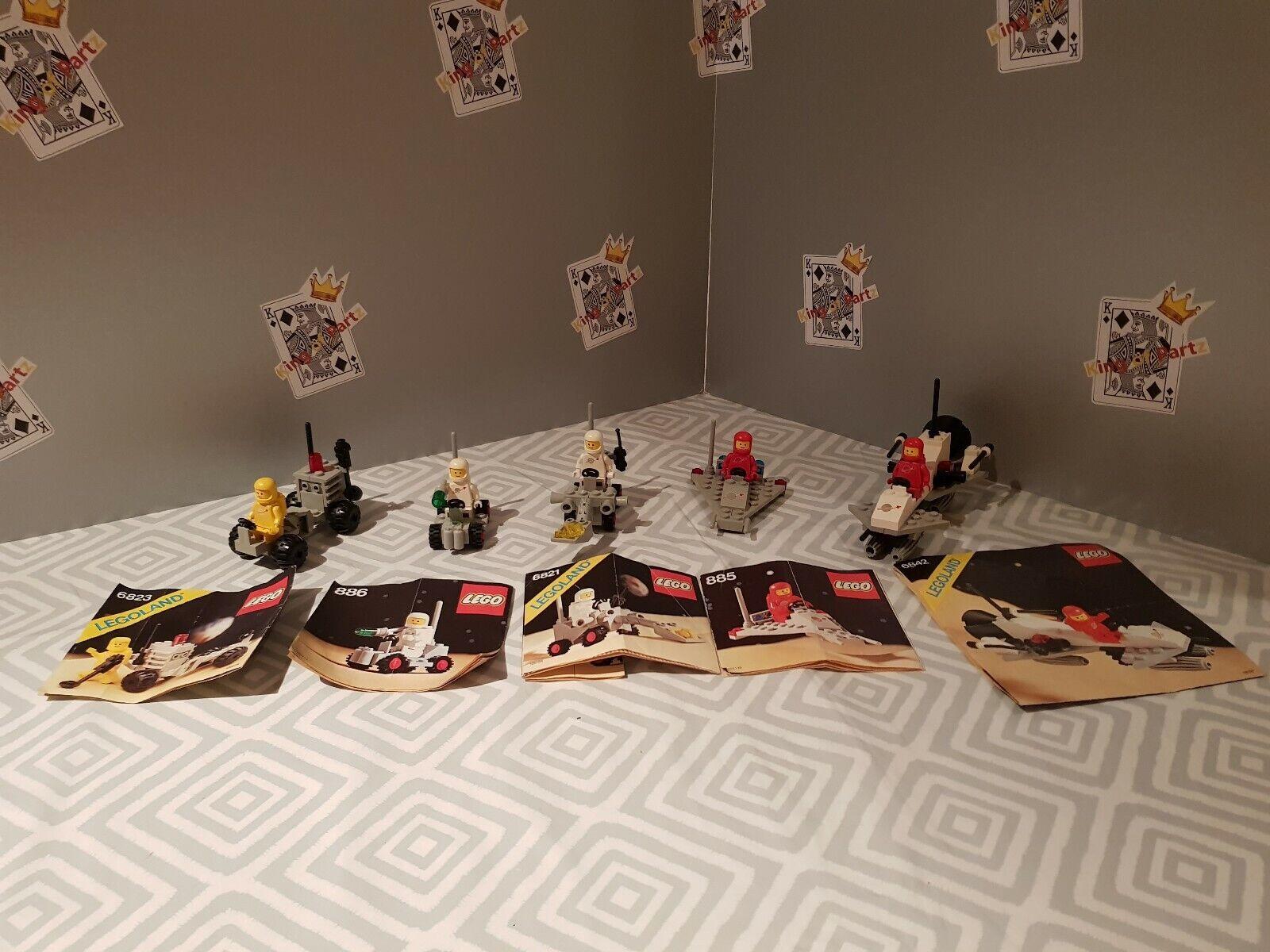 LEGO LEGOLAND SPACE SETS 6821,6823,6842,885,886