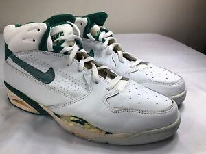 Details about VTG 1992 Nike Air Force Basketball Shoes OG 90s Pippen Green White Men's 14