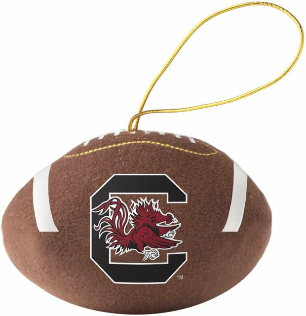 NCAA South Carolina Fighting Gamecocks Blown Glass Football Ornament