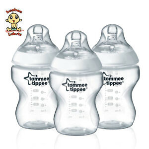 Tommee-Tippee-Closer-to-Nature-Bottles-9-oz-260-ml-3-PACK-Brand-New