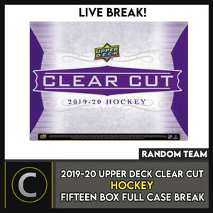 2019-20-UPPER-DECK-CLEAR-CUT-HOCKEY-15-BOX-FULL-CASE-BREAK-H893-RANDOM-TEAMS