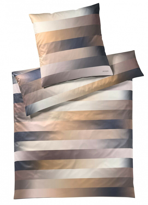 JOOP  Bettwäsche 4069 07 Flow Gold Streifen gestreift elegant Mako Satin