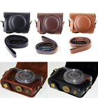 3 Colors Fashion Vintage PU Leather Case Bag For Canon G9X Silver/Black Camera