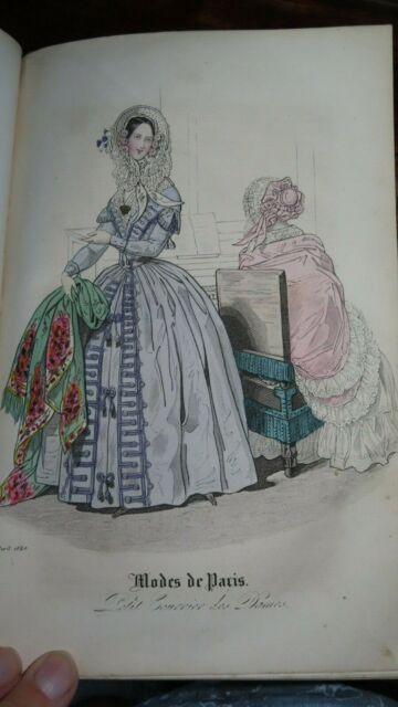 1840 EUROPA CHRONIK DER GEBILDETEN WELT BY LEWALD 25 PLATES FASHION DRESSES *