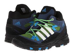 New-adidas-Outdoor-Kids-Flint-II-Mid-I-Shoes-Boots-Green-Blue-Boy-5-toddler