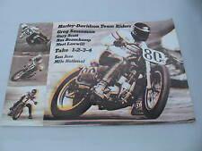 Original 1975 Harley Davidson Race Poster San Jose Mile Greg Sassaman Gary Scott