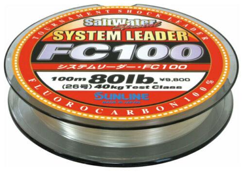 Sunline System Leader FC100 Fluorocarbon Salt /& Freshwater Fluoro Shock Leader