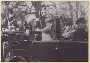 Visite-a-Paris-du-Roi-d-039-Afghanistan-1928-Photo-Henri-Manuel-Vintage-argentique
