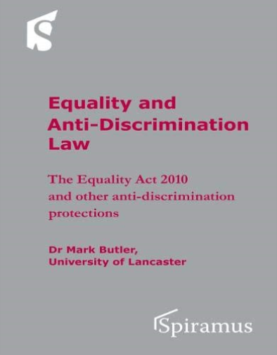 Mark Butler-Equality And Anti-Discrimination Law (US IMPORT) BOOK NEW