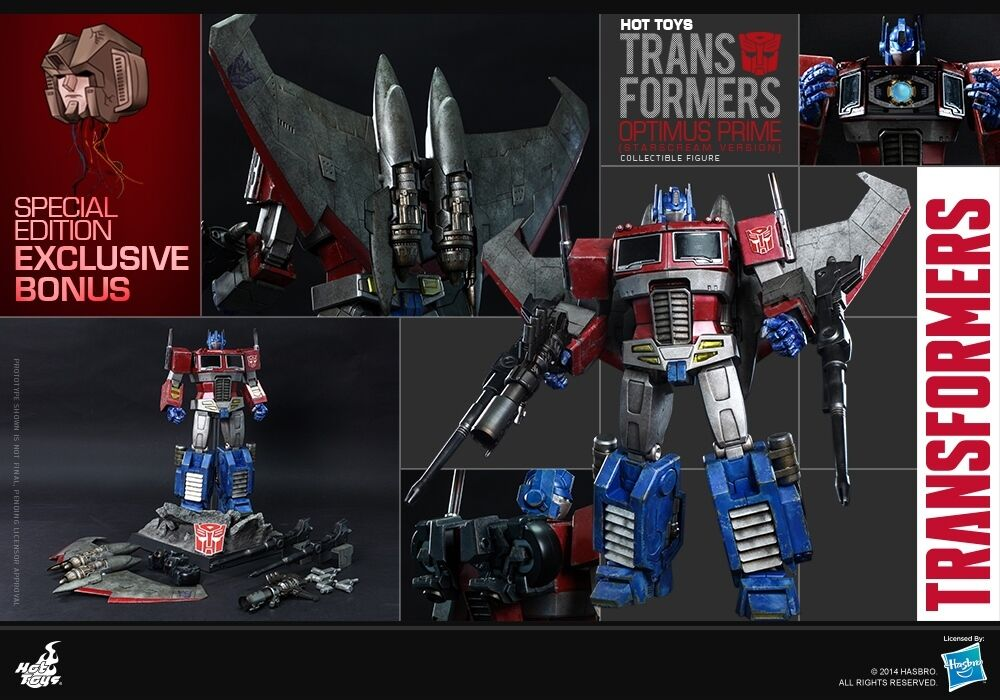 HOT TOYS THE TRANSFORMERS G1 Optimus Prime Starscream Version 12  Figure Special