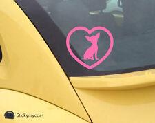 Chiwawa heart cute car decal sticker dogs love heaven pink lips kiss love owner