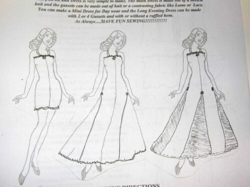 NG Creations Sewing Pattern #7 Slinky Dress Evening Gowns fits My Size Barbie
