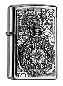 ZIPPO-Benzin-Feuerzeug-Pocket-Watch-Emblem-2004742-NEU-OVP