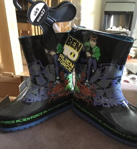 Alien Force Rain Wellington Boots Size 9 New Boys Ben 10