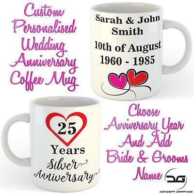 Utile Custom Personalizzata Sposa & Nome Sposi Anniversario Di Matrimonio Regalo Tazza Da Caffè Tazza- Rendere Le Cose Convenienti Per Le Persone