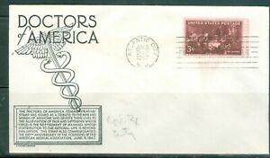 US-FDC-949-Docters-Of-America-Cancel-Atlantic-City-N-J-Jun-9-1947-NOT-Addr