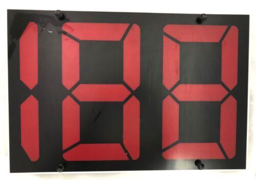 "Fairplay Translux RED Scoreboard Panel 12/"" digits"