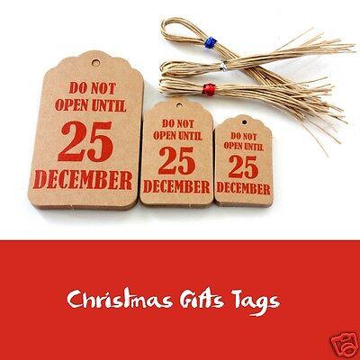 Christmas Gift Tags Brown tags 3 Sizes