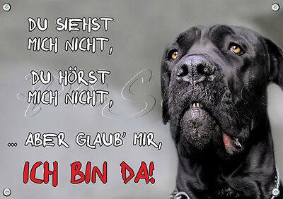 Beliebte Marke Hunde Warnschild - Cane Corso - Metallschild - Top Tipp