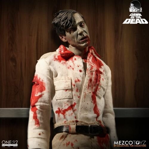 Mezco Toyz One:12 Collective Dawn of the Dead Flyboy /& Plaid Shirt Zombie Set