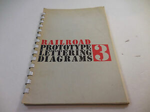 Railroad-Prototype-Lettering-Diagrams-3-Book-Guide-Reference-Model-Information