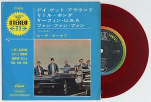 Details About The Beach Boys I Get Around Little Honda Surfin Usa 1 7 Japan Red Vinyl Ep