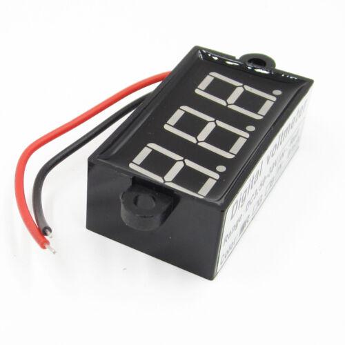 Waterproof  3.5-30V 3 Bit LED Digital Voltmeter Voltage Test Module red BSG