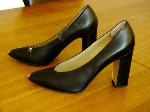 super popular 28f8e 70149 de negro cuero de 5 6 de talla tacón damas Zapatos Hobbs para bloque Ixwnp