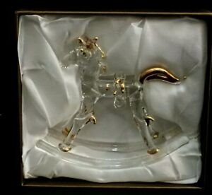 Pier 1 Collectible Glass Rocking Horse Figurine