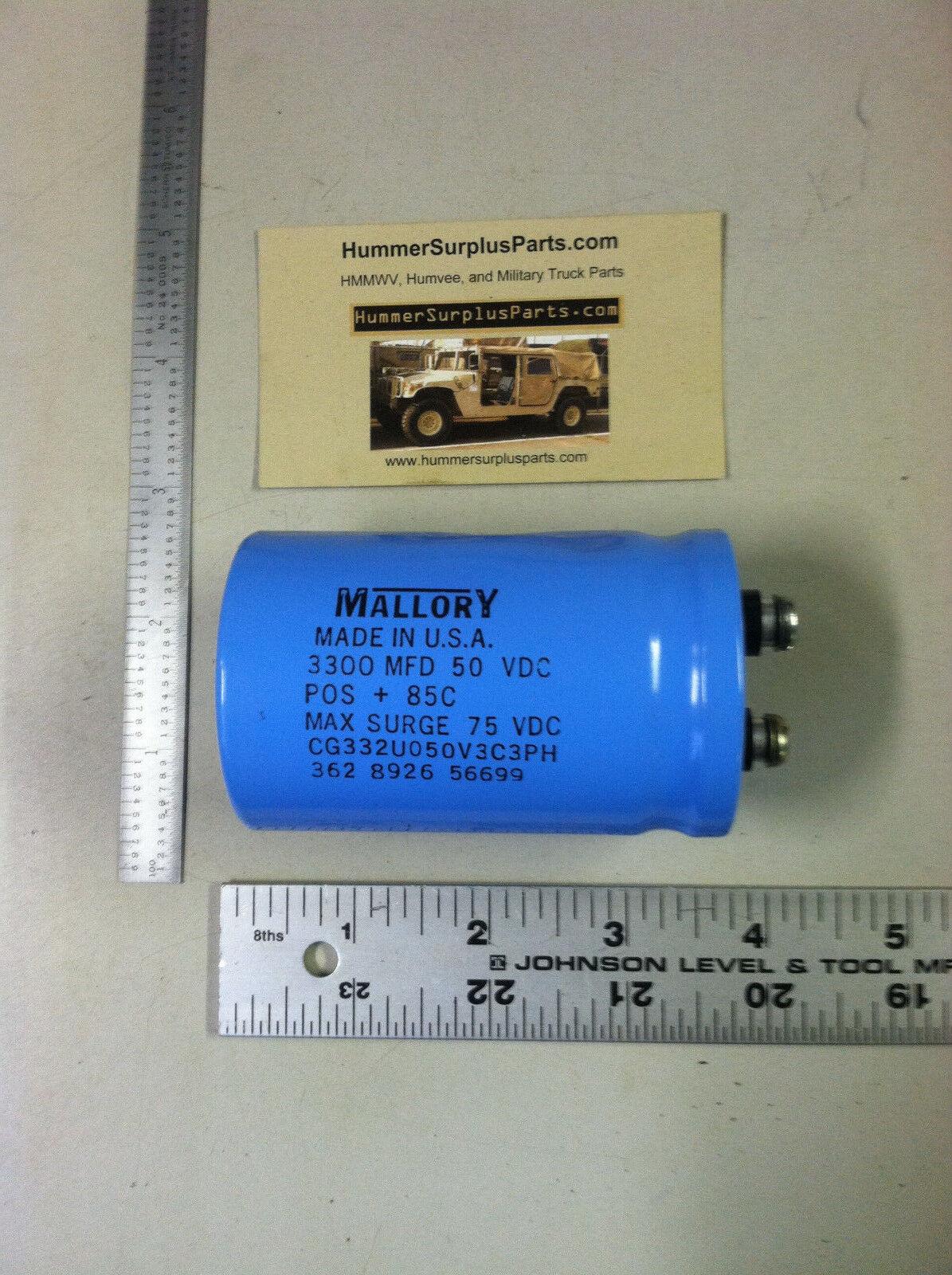 9400MFD 50VDC Aluminum Electrolytic Capacitor Screw Terminal Aerovox Mallory USA