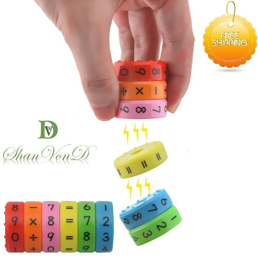 Autism Educational Toys Magnetic Arithmetic Maths Learning Toy Kids Calculator