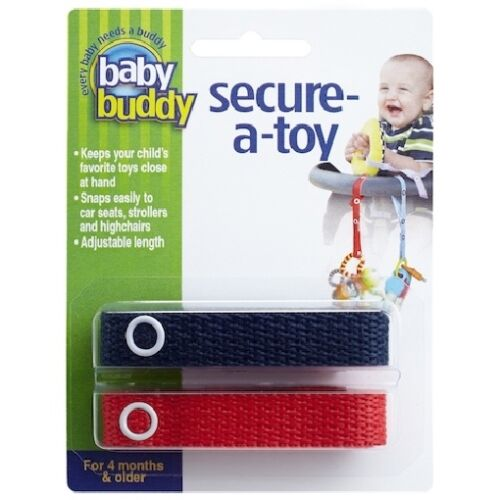 Baby Buddy Secure-a-Toy Adjustable Toy Strap//Clip