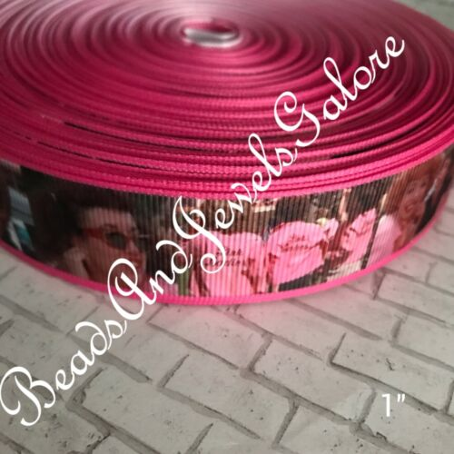 grease elastic pink ladies grease hair tie grease foe inspired grease ribbon bow