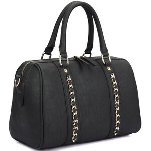 New-Womens-Handbags-Faux-Leather-Satchel-Tote-Bag-Shoulder-Bags-Medium-Purse