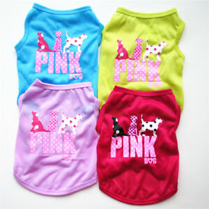Small-Pet-Dog-Clothes-Costume-Pink-Animal-Puppy-Cat-T-Shirt-Summer-Apparel-Vest