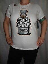 Boston Bruins 2011 Stanley Cup Champions Reebok NHL Women T-shirt Size M