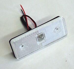2 x 12V MARKER WHITE SIDE FRONT LED LIGHT TRAILER TRUCK LORRY CAMPER VAN BUS